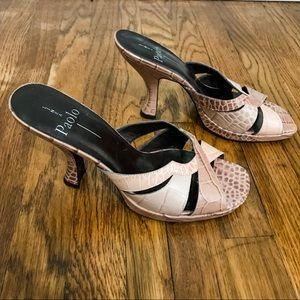 LINEA PAOLO | Snakeskin Platform 90's Heels